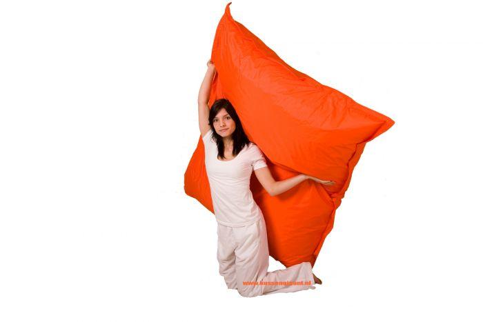 Zitzak Big Bag.Zitzak 165 Cm X 140 Cm Oranje Met Binnenkussen