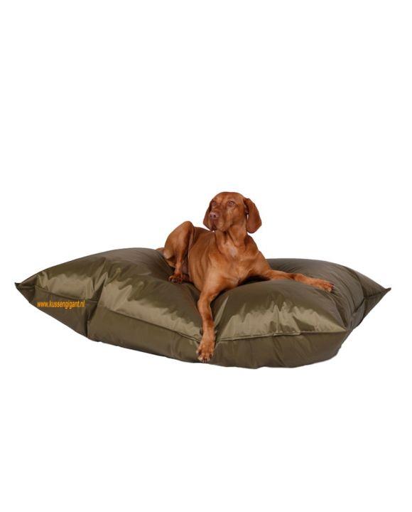 Lazy Dogbag olijfgroen met binnenkussen