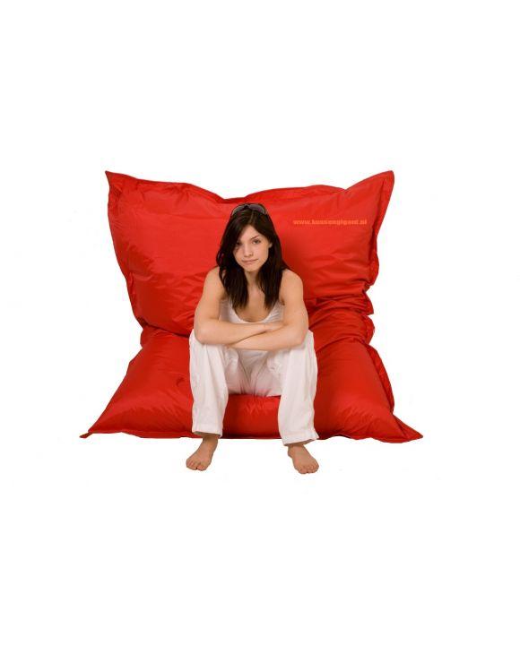 Zitzak 165 cm x 140 cm rood met binnenkussen